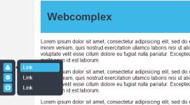 Фиксированное боковое меню на чистом CSS