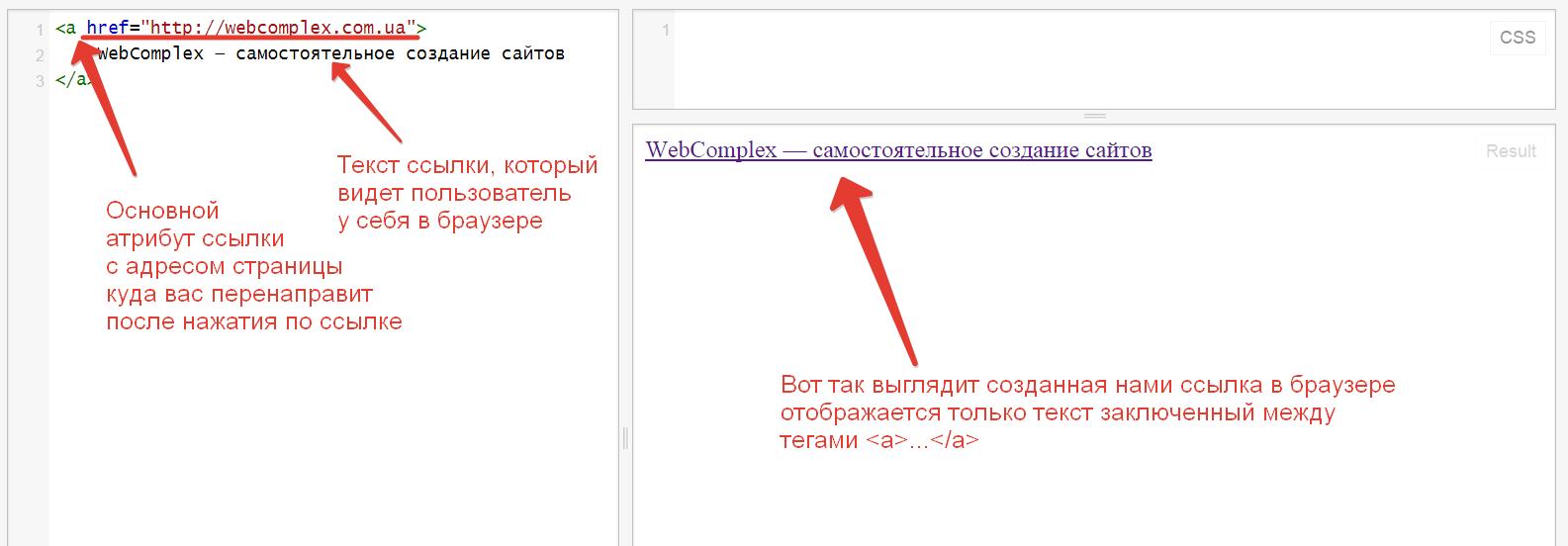 html код ссылки: