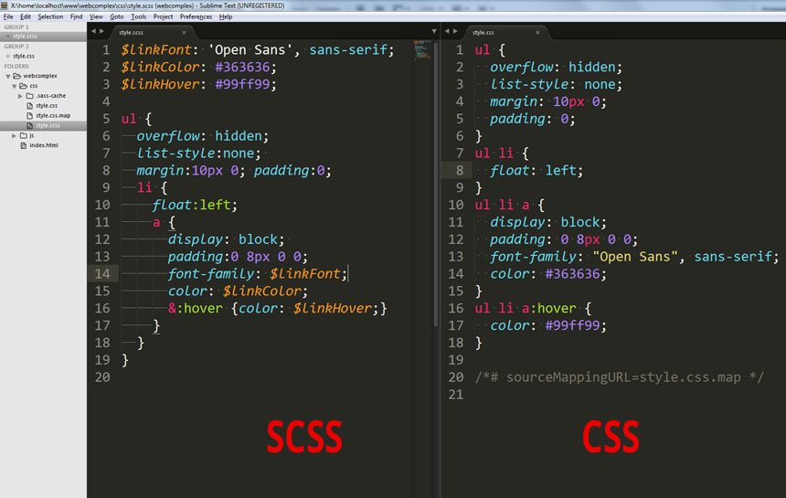 scss-variables